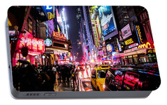 New York City Night Portable Battery Charger by Nicklas Gustafsson