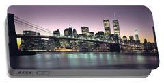 New York City Skyline Portable Battery Charger by Jon Neidert