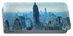New York City Skyline Summer Day Portable Battery Charger