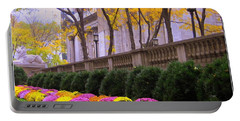 Portable Battery Charger featuring the photograph New York Public Library by Dora Sofia Caputo Photographic Art and Design