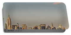 New York City Skyline Portable Battery Charger by Kerri Farley