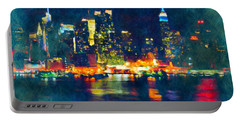 New York State Of Mind Abstract Realism Portable Battery Charger