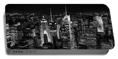 New York Times Square Bw Portable Battery Charger