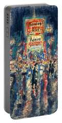 New York Times Square - Watercolor Portable Battery Charger