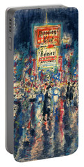New York Times Square 79 - Watercolor Art Painting Portable Battery Charger