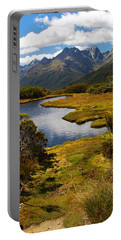Portable Battery Charger featuring the photograph New Zealand Alpine Landscape by Cascade Colors
