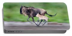 Newborn Wildebeest Calf Running Portable Battery Charger