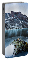 Frozen Mountain Lake Portable Battery Charger