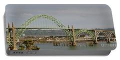 Newport Bay Bridge Portable Battery Charger by Susan Garren