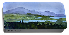 Portable Battery Charger featuring the painting Newport From Brownington Lookout by Donna Walsh