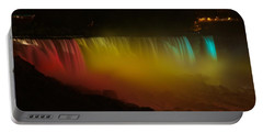 Portable Battery Charger featuring the photograph Niagara Falls A Glow by Dave Files