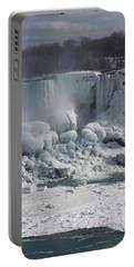 Niagara Falls Ice Buildup - American Falls New York State U S A Portable Battery Charger