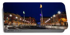 Nice France - Place Massena Blue Hour  Portable Battery Charger