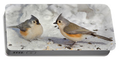 Nice Pair Of Titmice Portable Battery Charger