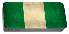 Nigeria Flag Vintage Distressed Finish Portable Battery Charger
