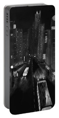 Night City Scape Portable Battery Charger