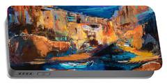 Night Colors Over Riomaggiore - Cinque Terre Portable Battery Charger