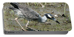 Night Heron Feeding Portable Battery Charger