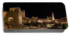 Night In The Old City Portable Battery Charger by Alexey Stiop