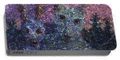 Portable Battery Charger featuring the painting Night Offering by James W Johnson