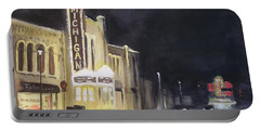 Night Time At Michigan Theater - Ann Arbor Mi Portable Battery Charger