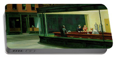 Portable Battery Charger featuring the  Nighthawks by Edward Hopper