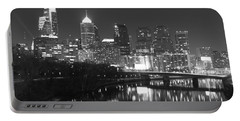 Portable Battery Charger featuring the photograph Nighttime In Philadelphia by Alice Gipson