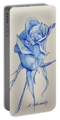 Niki's Rose Portable Battery Charger by Marna Edwards Flavell