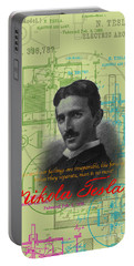 Nikola Tesla #3 Portable Battery Charger