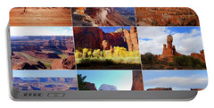 Nine Utah Landmarks Portable Battery Charger by Catherine Sherman