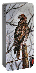 No Hunting Portable Battery Charger by Craig T Burgwardt