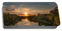 Mississippi Sunset Double Starburst Portable Battery Charger