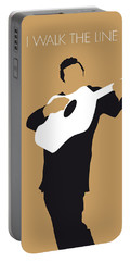 Johnny Cash Digital Art Portable Battery Chargers