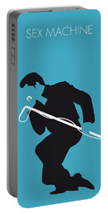 No018 My James Brown Minimal Music Poster Portable Battery Charger