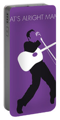 No021 My Elvis Minimal Music Poster Portable Battery Charger