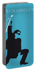 No035 My U2 Minimal Music Poster Portable Battery Charger by Chungkong Art
