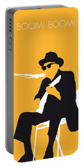 No054 My Johnny Lee Hooker Minimal Music Poster Portable Battery Charger by Chungkong Art