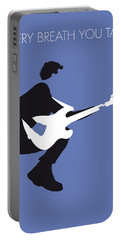 No058 My The Police Minimal Music Poster Portable Battery Charger by Chungkong Art