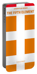No112 My Fifth Element Minimal Movie Poster Portable Battery Charger