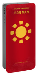 No113 My Iron Man Minimal Movie Poster Portable Battery Charger