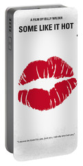 No116 My Some Like It Hot Minimal Movie Poster Portable Battery Charger