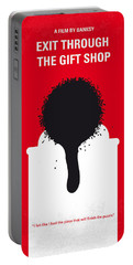 No130 My Exit Through The Gift Shop Minimal Movie Poster Portable Battery Charger