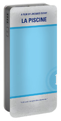 No137 My La Piscine Minimal Movie Poster Portable Battery Charger