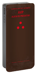 No148 My Avp Minimal Movie Poster Portable Battery Charger