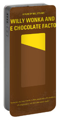 No149 My Willy Wonka And The Chocolate Factory Minimal Movie Poster Portable Battery Charger