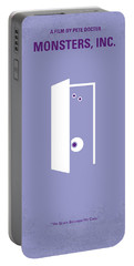 No161 My Monster Inc Minimal Movie Poster Portable Battery Charger