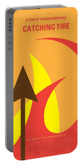 No175-2 My Catching Fire - The Hunger Games Minimal Movie Poster Portable Battery Charger