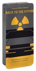 No183 My Back To The Future Minimal Movie Poster Portable Battery Charger by Chungkong Art