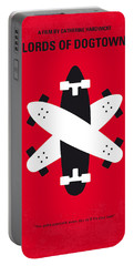 No188 My The Lords Of Dogtown Minimal Movie Poster Portable Battery Charger by Chungkong Art
