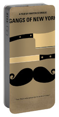 No195 My Gangs Of New York Minimal Movie Poster Portable Battery Charger by Chungkong Art